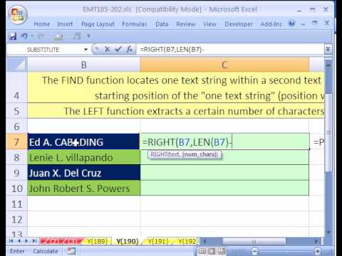 Excel Magic Trick #190: Rearrange First Last Name w Formula