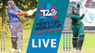 LIVE CRICKET - ICC Men's T20 World Cup Europe Final 2019 - Italy vs Guernsey. Starts 15.45 BST