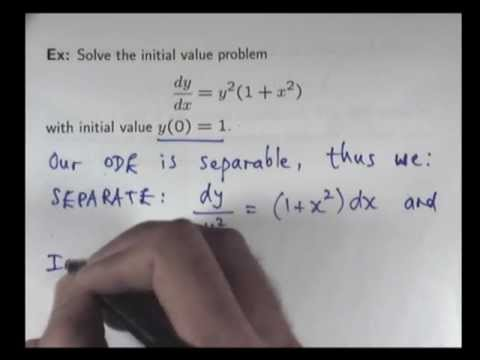 How to solve initial value problems