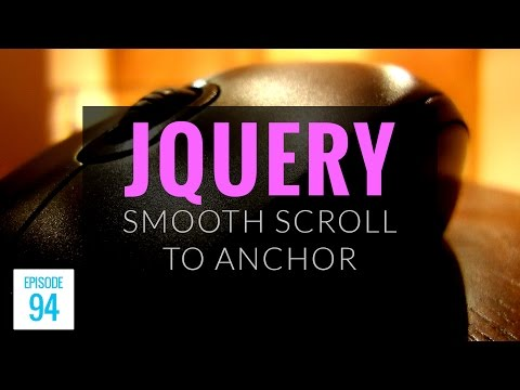 JMS094: jQuery Smooth Scroll to Anchor Using animate()