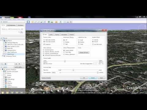 Google Earth: The Options panel
