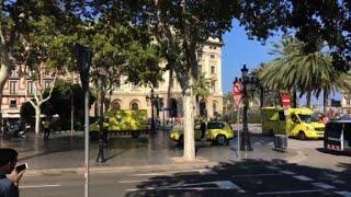 Van hits pedestrians in Barcelona