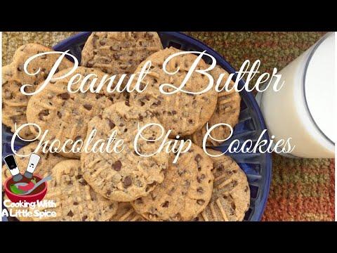 Peanut Butter Chocolate Chip Cookies   Dessert Recipe
