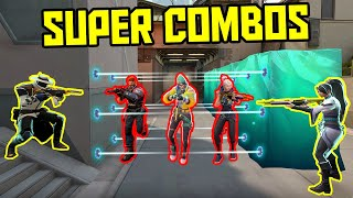 THE POWER OF PERFECT ULTIMATES #2 - 200 IQ Tricks & Combos - VALORANT