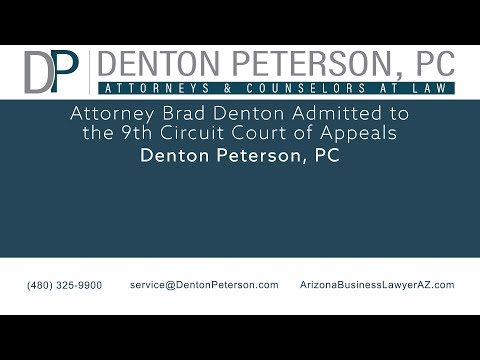 Attorney Brad Denton Admitted to the 9th Circuit Court of Appeals