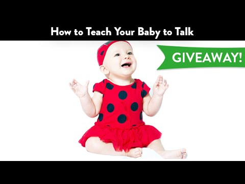 How to Teach Your Baby to Talk GIVEAWAY | CloudMom