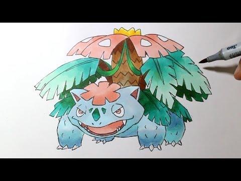 Wie Zeichnet Man Mega Bisaflor Pokemon Xy Tutorial Playithub