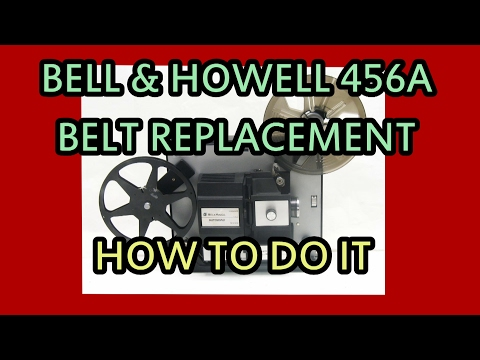Vintage Bell & Howell Super 8, 8 mm, Home Movie Projector Belt Change