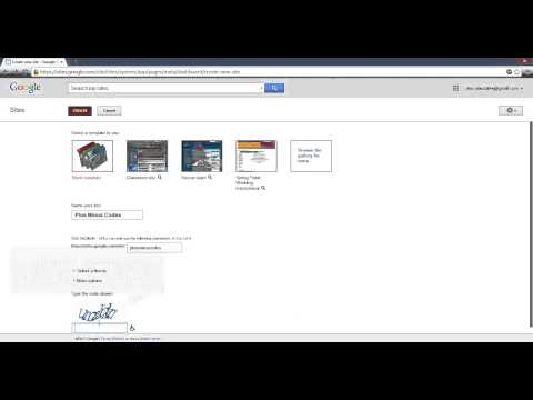 How to create a free website using Google sites