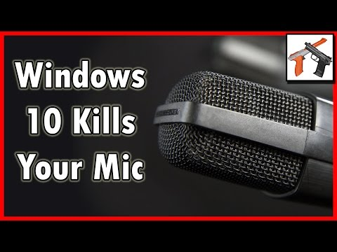 Windows 10 / 8 Breaks Your USB MIC!?!  Quiet Microphone Problems