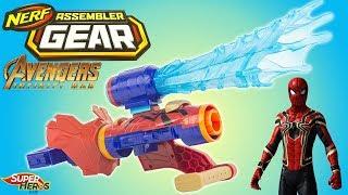 Download Iron Spider Blaster Nerf Assembler Gear Avengers Infinity War Spiderman Jouet Toy Review Kids Hasbro Video