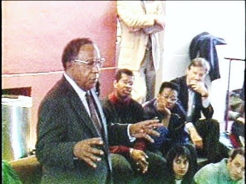 Alex Haley visits Harvard University while on tour during Black History Month