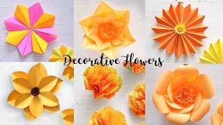 Download paper flower making easy mp4 videos mr jatt 6 easy paper flowers flower mightylinksfo