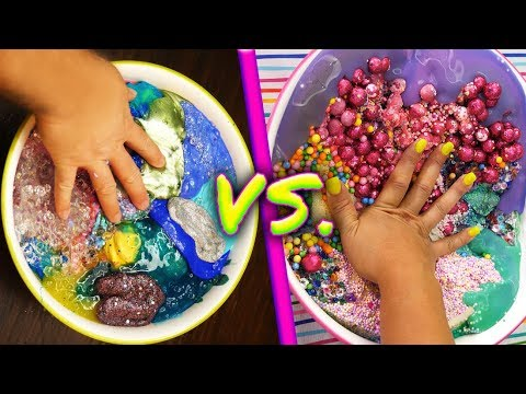 Mixing all my slime! Over 50! Gross Giant Slime Smoothie! Fluffy Slime no Borax