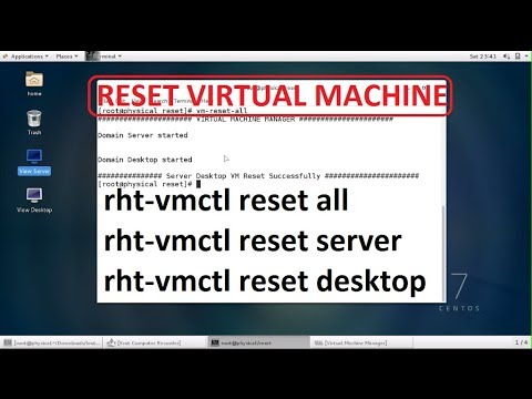 How to Reset Virtual Machine in Redhat 7 ,Centos 7 ( rht-vmctl )