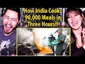 How India Cooks 90000 Meals In Three Hours India S Mega Kitchen Reaction