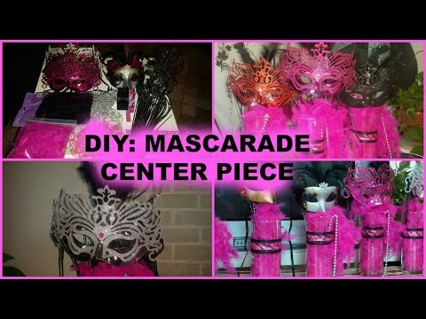 DIY: HOW TO MAKE A MASQUERADE CENTERPIECE