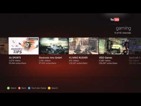 Youtube On Xbox Live!!!!