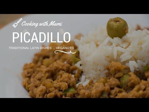 Picadillo - Cooking with Mami   Vegan Recipe # 72