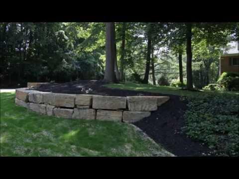 Natural Boulder Retaining Wall