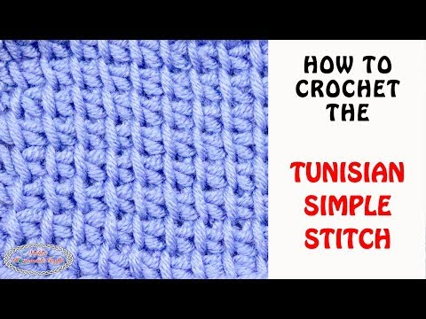 Easy Tutorial: How to do the Tunisian Simple Crochet (including increases and decreases)