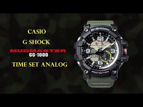 g shock mudmaster gg 1000 time setting analog