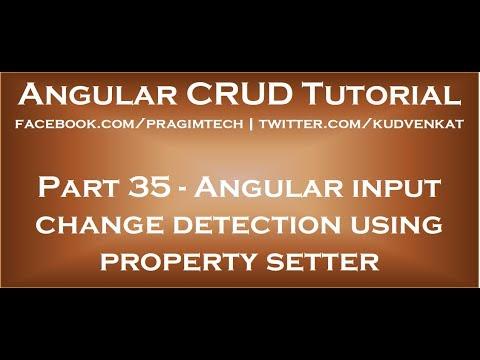 Angular input change detection using property setter