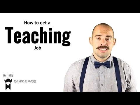 How to get a teaching job