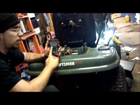 How to test lawn tractor battery