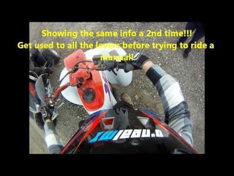 How to ride a Manual Quad or ATV (Honda 250ex & TRX400ex shown)