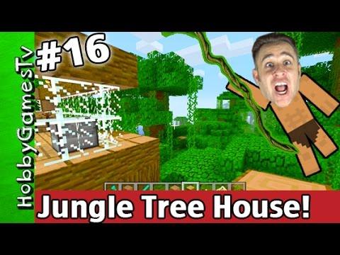 Jungle TREE HOUSE Minecraft Xbox One Tutorial Survival Mode #16 HobbyGamesTv