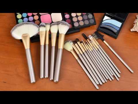 Makeup Brush Set - 18 Pcs Makeup Brush Set Professional  Blending Powder Brush Tool