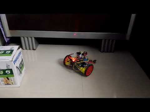 CLEANOBOT- an home made automatic vacuum cleaner. floor testing clip of this room cleaner robot.