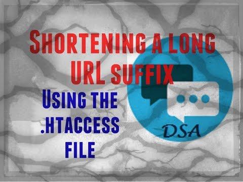 How to shorten an URL address on your website