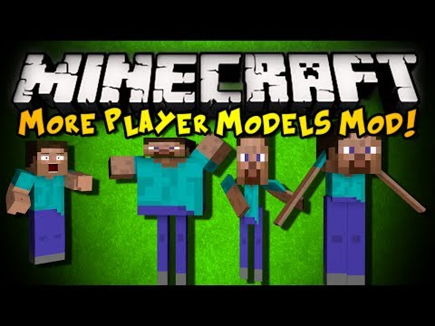 Minecraft: More Player Models 2 Mod - WARP YOUR SKIN, BECOME MOBS, & MORE! (HD)