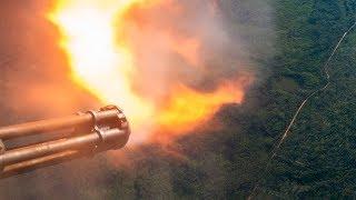 LEGENDARY AC-130 IN ACTION • SPOOKY GUNSHIP FIRING • CANNONS & GATTLING GUN LIVE FIRE