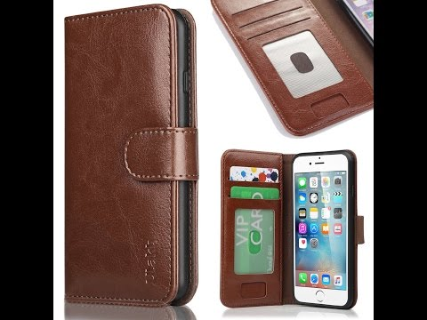 ULAK Leather Flip Wallet Case - Apple iPhone 6 6S 6 Plus 6S Plus