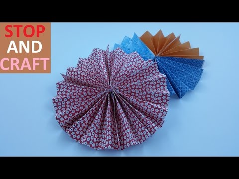 How to make a Hanging Fan Decoration