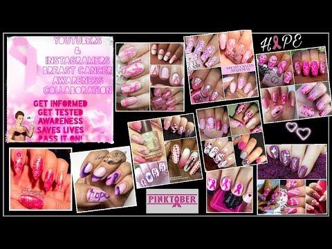 Pinktober YT's & IG's Nailart Breast Cancer Awareness Collab