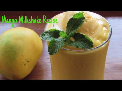 Mango Milkshake Recipe - Mango Shake With Mango Ice Cream - Mango Recipes -Kids Recipes | Nisa Homey