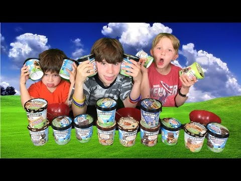 Ben and Jerry's Ice Cream Challenge Taste Test and Review