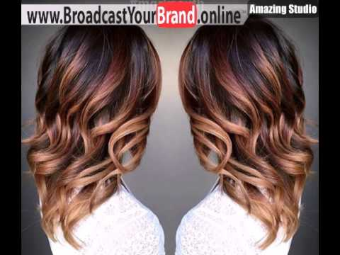 Curly Chocolate Into Caramel Ombre