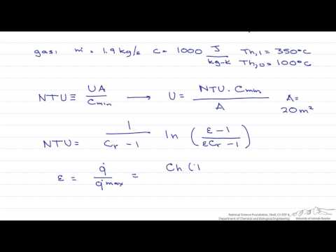NTU Effectiveness: Counter-Flow Heat Exchanger