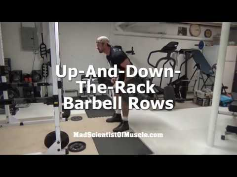 Massive Volume Overload For Back - Up-and-Down-the-Rack Barbell Rows