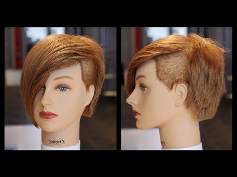 Emo Undercut Women's Layered Bob Haircut - TheSalonGuy
