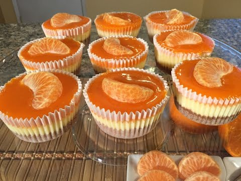 How To Make Mandarin Orange Cheesecake Cupcakes-Food Recipes-Graham Cracker Crust