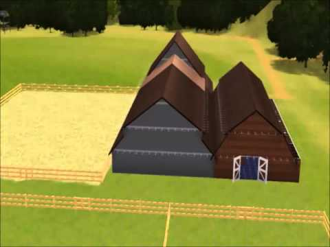 sims 3 pets making a horse stable