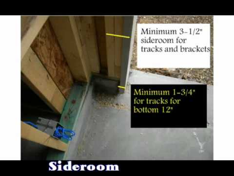 Measuring a New Opening for Garage Door Installation
