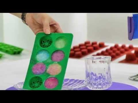 How To Make Colorful Ice Cube & Ice Cup For Cocktail  With Silicone Ice Tray