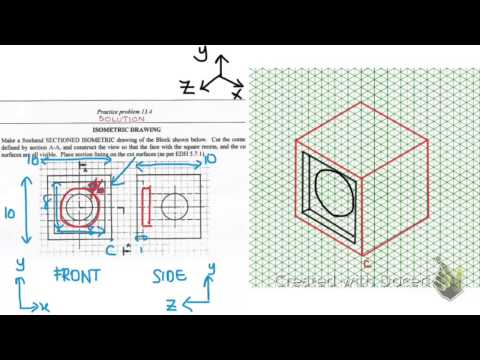 Isometric Drawing - practise problem 13.4
